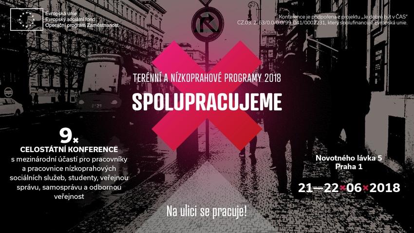 Spustili jsme přihlašování na konferenci Terénní a nízkoprahové programy 2018 - SPOLUPRACUJEME