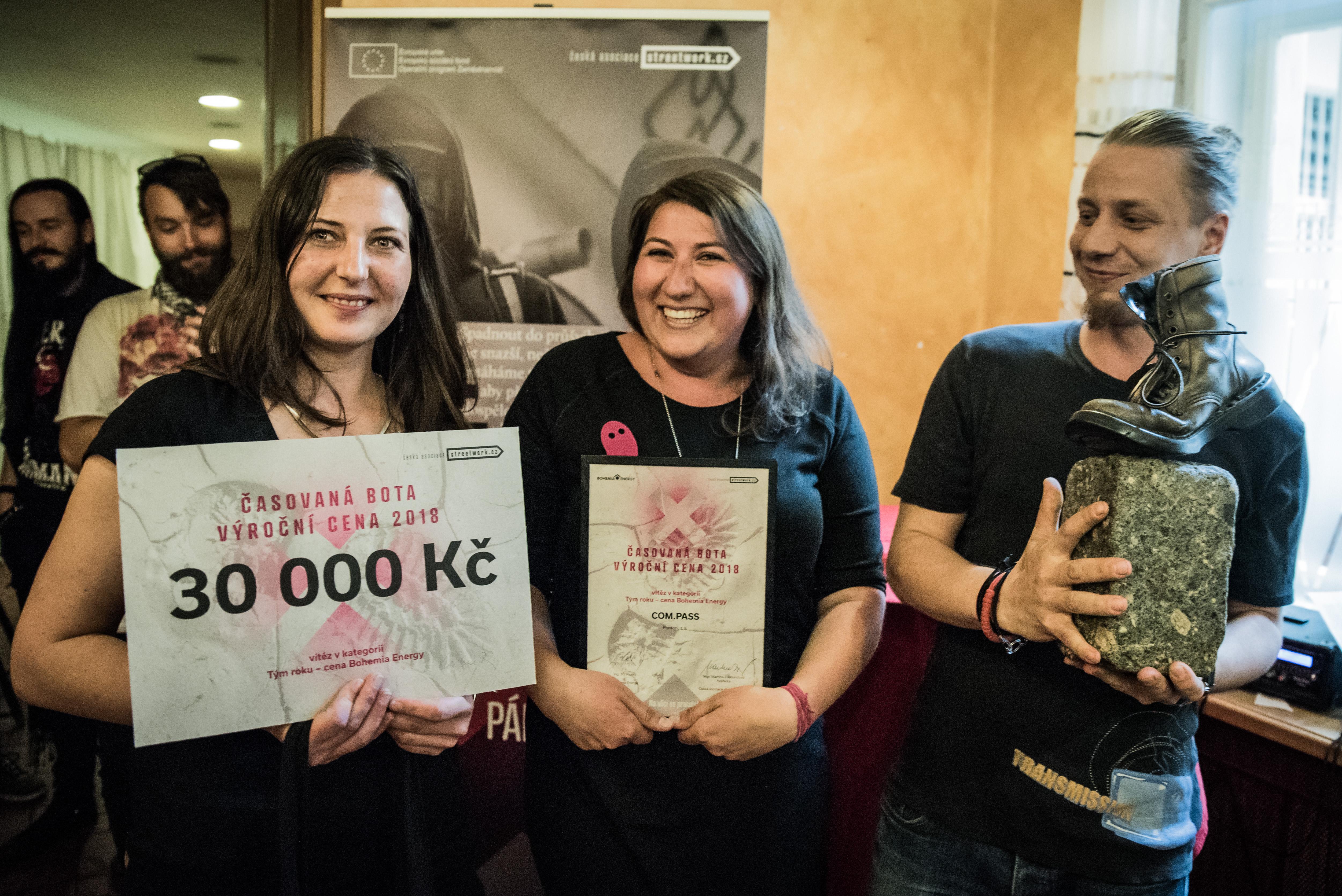 Vítěz v kategorii Tým roku 2018 - Cena Bohemia Energy: Tým COM.PASS, Ponton z.s.