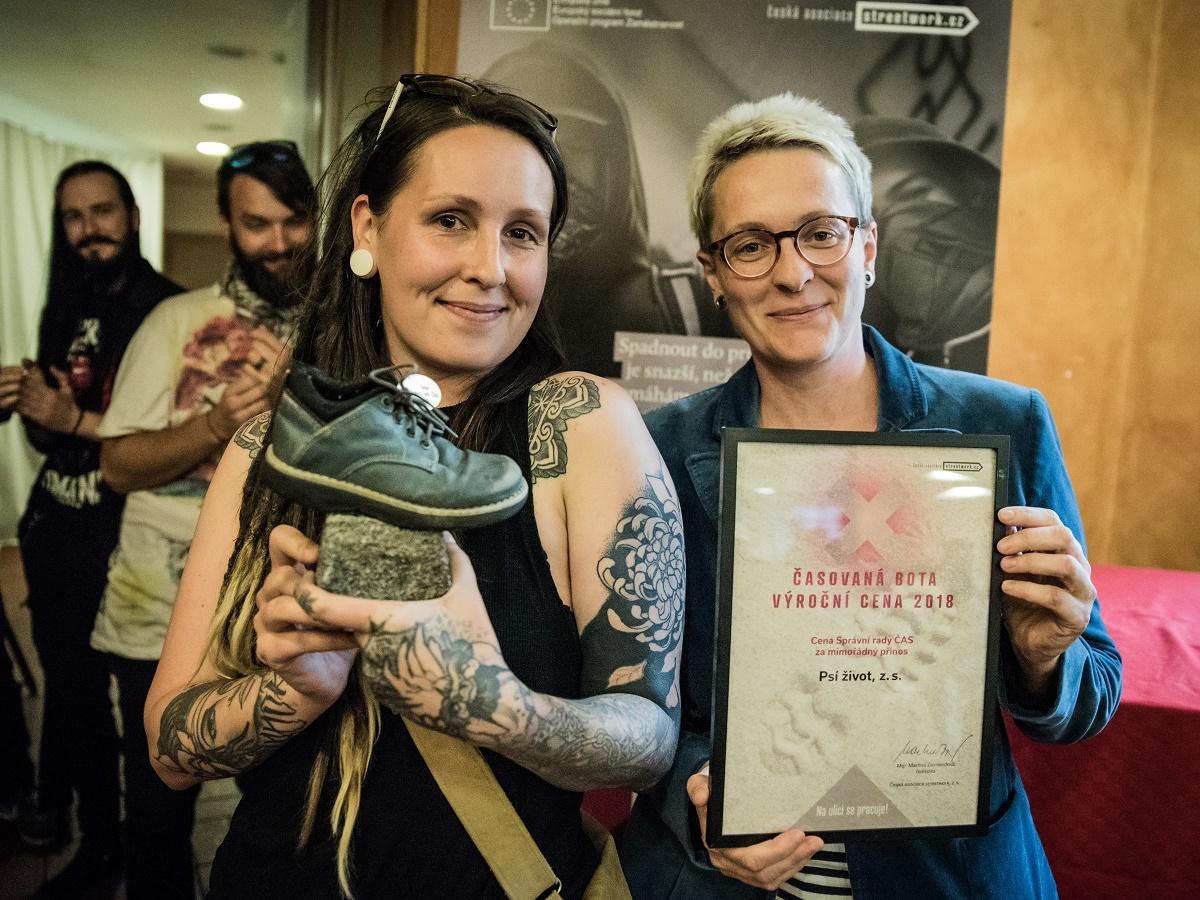 Psí život při předávání ČASované boty 2018 - Ceny Správní rady ČAS